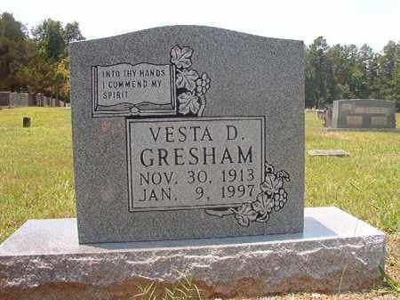 GRESHAM, VESTA D - Calhoun County, Arkansas   VESTA D GRESHAM - Arkansas Gravestone Photos