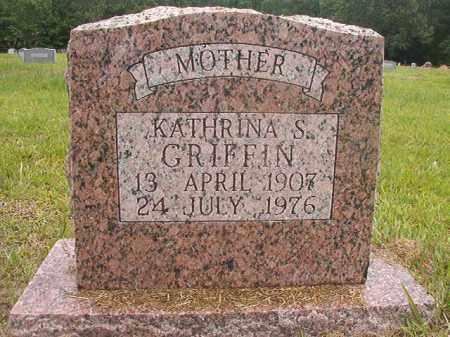 GRIFFIN, KATHRINA S - Calhoun County, Arkansas | KATHRINA S GRIFFIN - Arkansas Gravestone Photos