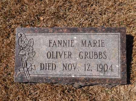 OLIVER GRUBBS, FANNIE MARIE - Calhoun County, Arkansas | FANNIE MARIE OLIVER GRUBBS - Arkansas Gravestone Photos