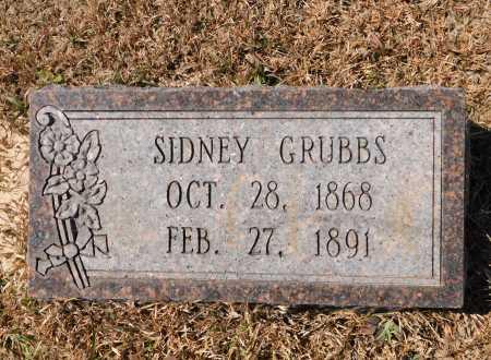 GRUBBS, SIDNEY - Calhoun County, Arkansas | SIDNEY GRUBBS - Arkansas Gravestone Photos