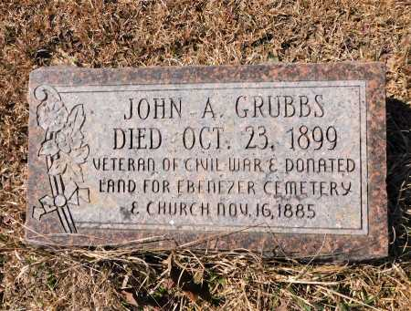 GRUBBS (VETERAN CSA), JOHN A - Calhoun County, Arkansas | JOHN A GRUBBS (VETERAN CSA) - Arkansas Gravestone Photos