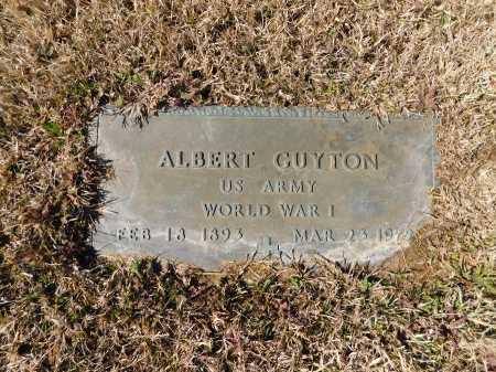 GUYTON (VETERAN WWI), ALBERT - Calhoun County, Arkansas   ALBERT GUYTON (VETERAN WWI) - Arkansas Gravestone Photos