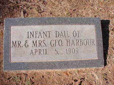 HARBOUR, INFANT DAUGHTER - Calhoun County, Arkansas | INFANT DAUGHTER HARBOUR - Arkansas Gravestone Photos