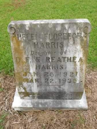 HARRIS, HELEN FLOREECE - Calhoun County, Arkansas   HELEN FLOREECE HARRIS - Arkansas Gravestone Photos