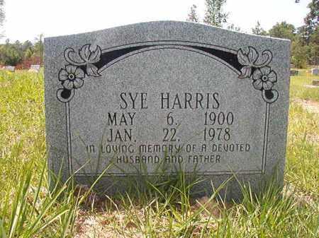 HARRIS, SYE - Calhoun County, Arkansas   SYE HARRIS - Arkansas Gravestone Photos