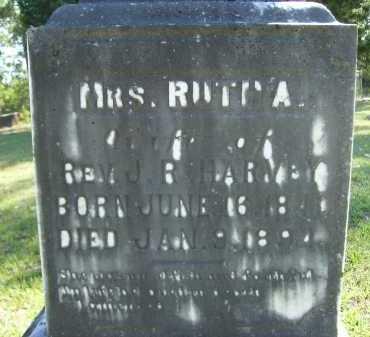 HARVEY (CLOSEUP), RUTH A - Calhoun County, Arkansas | RUTH A HARVEY (CLOSEUP) - Arkansas Gravestone Photos
