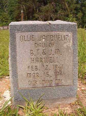 HARWELL, OLLIE JACQUELIN - Calhoun County, Arkansas | OLLIE JACQUELIN HARWELL - Arkansas Gravestone Photos