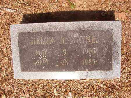 HAYNES, HELON H - Calhoun County, Arkansas   HELON H HAYNES - Arkansas Gravestone Photos