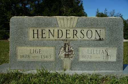 HENDERSON, LIGE - Calhoun County, Arkansas | LIGE HENDERSON - Arkansas Gravestone Photos