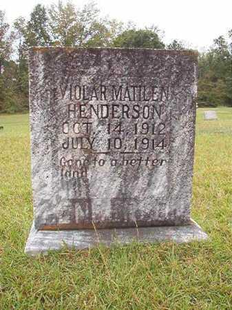 HENDERSON, VIOLAR MATILEN - Calhoun County, Arkansas   VIOLAR MATILEN HENDERSON - Arkansas Gravestone Photos