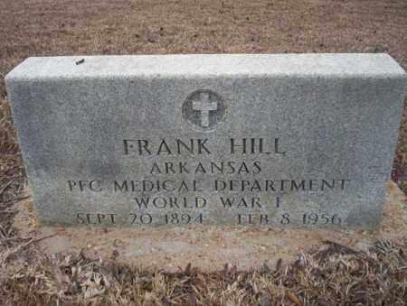 HILL (VETERAN WWI), FRANK - Calhoun County, Arkansas | FRANK HILL (VETERAN WWI) - Arkansas Gravestone Photos