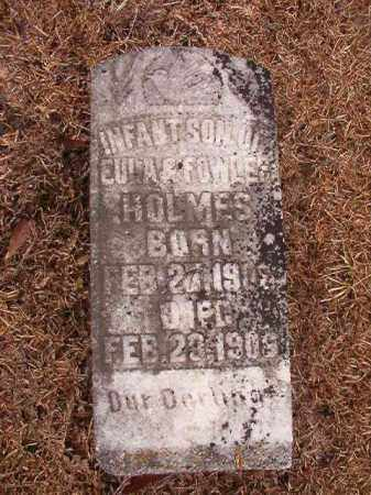 HOLMES, INFANT SON - Calhoun County, Arkansas | INFANT SON HOLMES - Arkansas Gravestone Photos