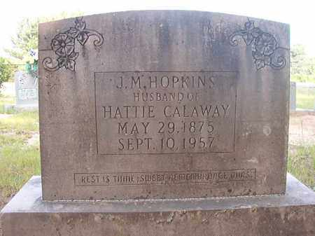 HOPKINS, J M - Calhoun County, Arkansas | J M HOPKINS - Arkansas Gravestone Photos