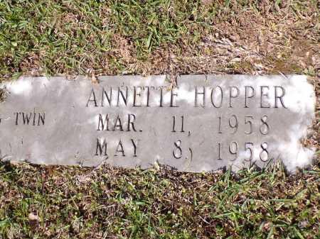HOPPER, ANNETTE - Calhoun County, Arkansas | ANNETTE HOPPER - Arkansas Gravestone Photos