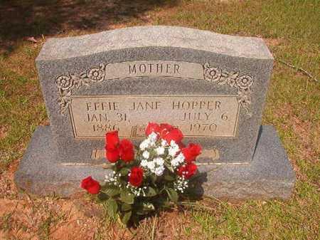 HOPPER, EFFIE JANE - Calhoun County, Arkansas | EFFIE JANE HOPPER - Arkansas Gravestone Photos