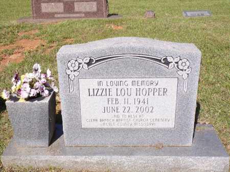HOPPER, LIZZIE LOU - Calhoun County, Arkansas   LIZZIE LOU HOPPER - Arkansas Gravestone Photos