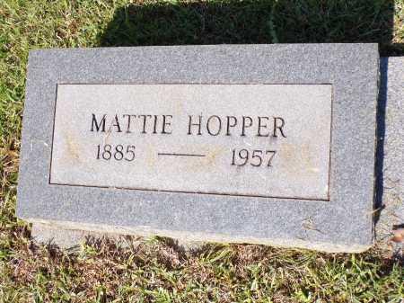 HOPPER, MATTIE - Calhoun County, Arkansas | MATTIE HOPPER - Arkansas Gravestone Photos