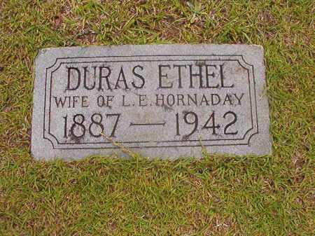 HORNADAY, DURAS ETHEL - Calhoun County, Arkansas   DURAS ETHEL HORNADAY - Arkansas Gravestone Photos