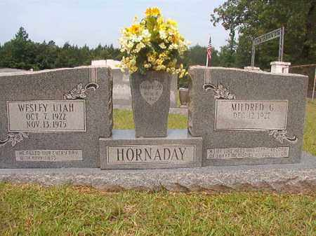 HORNADAY, WESLEY UTAH - Calhoun County, Arkansas   WESLEY UTAH HORNADAY - Arkansas Gravestone Photos