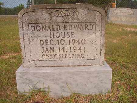 HOUSE, DONALD EDWARD - Calhoun County, Arkansas | DONALD EDWARD HOUSE - Arkansas Gravestone Photos