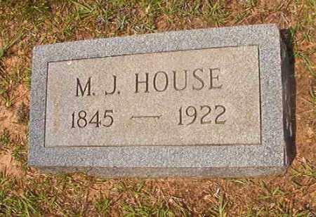 HOUSE, M J - Calhoun County, Arkansas | M J HOUSE - Arkansas Gravestone Photos