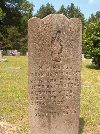 HOUSE, S E - Calhoun County, Arkansas | S E HOUSE - Arkansas Gravestone Photos