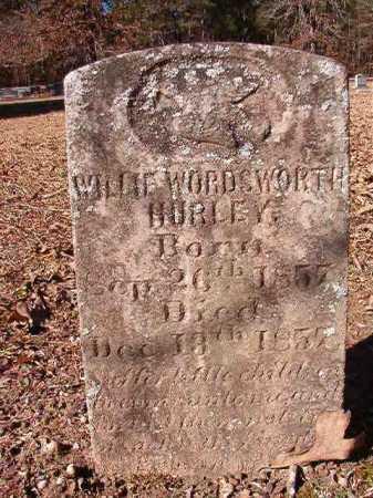HURLEY, WILLIE WORDSWORTH - Calhoun County, Arkansas | WILLIE WORDSWORTH HURLEY - Arkansas Gravestone Photos