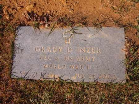 INZER (VETERAN WWII), GRADY D - Calhoun County, Arkansas | GRADY D INZER (VETERAN WWII) - Arkansas Gravestone Photos
