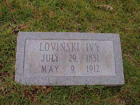 IVY, LOVINSKI - Calhoun County, Arkansas | LOVINSKI IVY - Arkansas Gravestone Photos