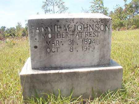 JOHNSON, FANNIE M - Calhoun County, Arkansas   FANNIE M JOHNSON - Arkansas Gravestone Photos