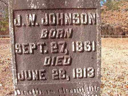 JOHNSON, J W - Calhoun County, Arkansas | J W JOHNSON - Arkansas Gravestone Photos
