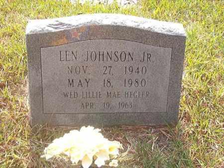 JOHNSON, JR., LEN - Calhoun County, Arkansas   LEN JOHNSON, JR. - Arkansas Gravestone Photos
