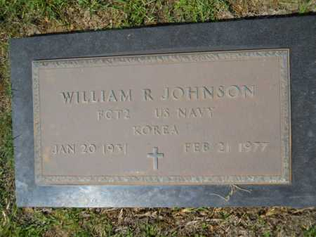 JOHNSON (VETERAN KOR), WILLIAM R - Calhoun County, Arkansas   WILLIAM R JOHNSON (VETERAN KOR) - Arkansas Gravestone Photos