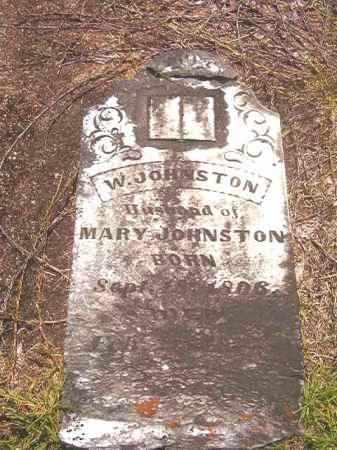 JOHNSTON, W - Calhoun County, Arkansas | W JOHNSTON - Arkansas Gravestone Photos