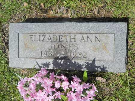 JONES, ELIZABETH ANN - Calhoun County, Arkansas   ELIZABETH ANN JONES - Arkansas Gravestone Photos
