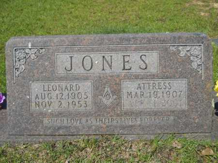 JONES, ATTRESS - Calhoun County, Arkansas | ATTRESS JONES - Arkansas Gravestone Photos