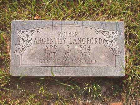 LANGFORD, ARGENTHY - Calhoun County, Arkansas | ARGENTHY LANGFORD - Arkansas Gravestone Photos