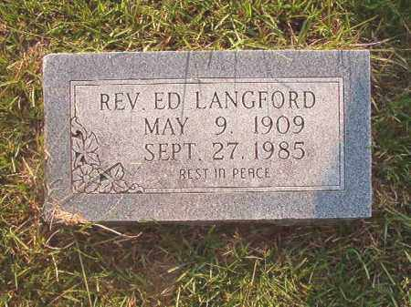 LANGFORD, REV, ED - Calhoun County, Arkansas | ED LANGFORD, REV - Arkansas Gravestone Photos
