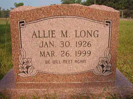 LONG, ALLIE M - Calhoun County, Arkansas | ALLIE M LONG - Arkansas Gravestone Photos