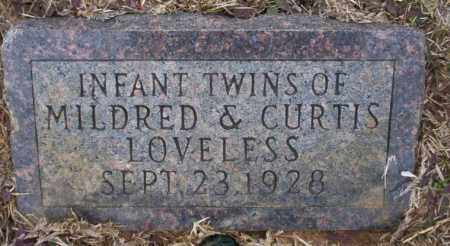 LOVELESS, INFANT TWINS - Calhoun County, Arkansas | INFANT TWINS LOVELESS - Arkansas Gravestone Photos