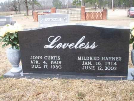 LOVELESS, MILDRED - Calhoun County, Arkansas | MILDRED LOVELESS - Arkansas Gravestone Photos