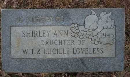 LOVELESS, SHIRLEY ANN - Calhoun County, Arkansas | SHIRLEY ANN LOVELESS - Arkansas Gravestone Photos