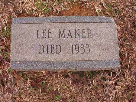 MANER, LEE - Calhoun County, Arkansas   LEE MANER - Arkansas Gravestone Photos