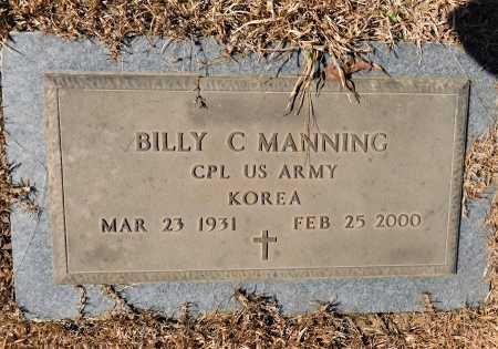 MANNING (VETERAN KOR), BILLY C - Calhoun County, Arkansas | BILLY C MANNING (VETERAN KOR) - Arkansas Gravestone Photos