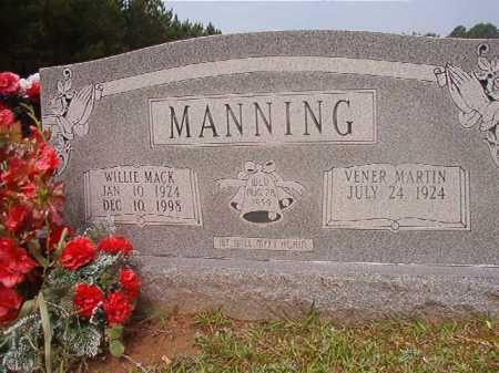 MANNING, WILLIE MACK - Calhoun County, Arkansas   WILLIE MACK MANNING - Arkansas Gravestone Photos