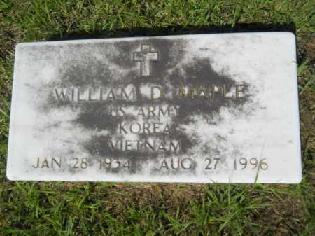 MAPLE (VETERAN 2 WARS), WILLIAM D - Calhoun County, Arkansas | WILLIAM D MAPLE (VETERAN 2 WARS) - Arkansas Gravestone Photos