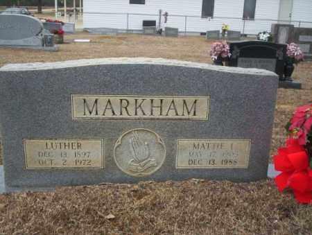MARKHAM, LUTHER - Calhoun County, Arkansas | LUTHER MARKHAM - Arkansas Gravestone Photos