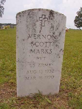 MARKS (VETERAN), VERNON SCOTT - Calhoun County, Arkansas   VERNON SCOTT MARKS (VETERAN) - Arkansas Gravestone Photos