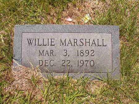 MARSHALL, WILLIE - Calhoun County, Arkansas | WILLIE MARSHALL - Arkansas Gravestone Photos