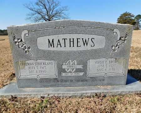 MATHEWS, FREEMAN STRICKLAND - Calhoun County, Arkansas | FREEMAN STRICKLAND MATHEWS - Arkansas Gravestone Photos